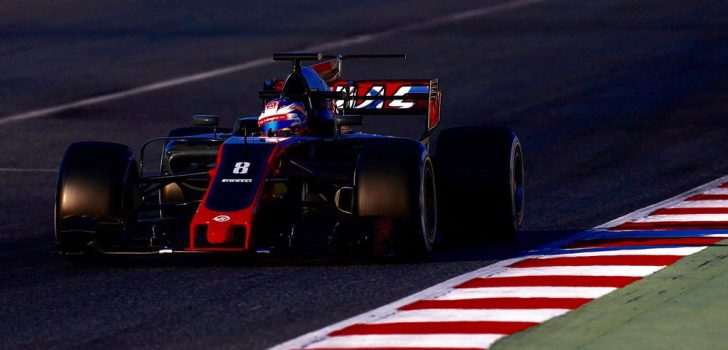 Romain Grosjean en su VF-17