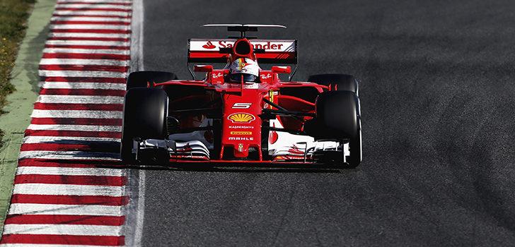 Vettel se mostró dominante