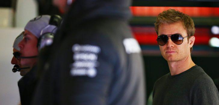 Nico Rosberg en box de Mercedes