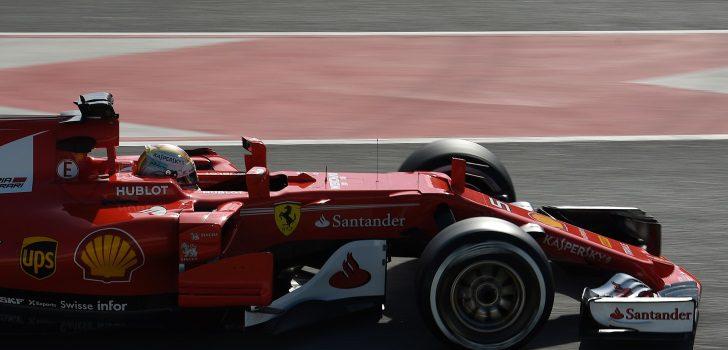 Sebastian Vettel durante los test de pretemporada 2017