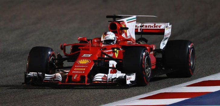 Sebastian Vettel en Barén