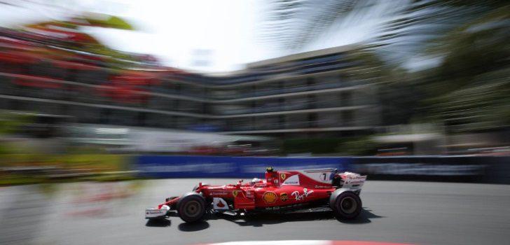 Kimi Räikkönen durante el GP Mónaco 2017