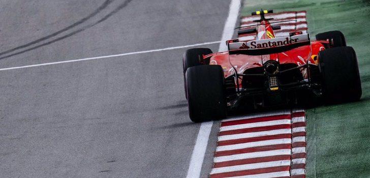 Sebastian Vettel durante el GP Canadá 2017
