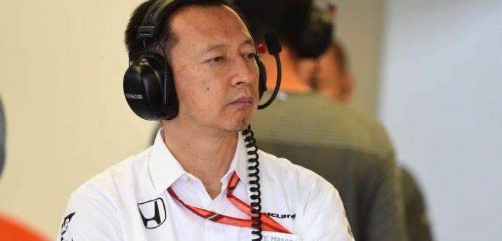 Hasegawa durante un Gran Premio
