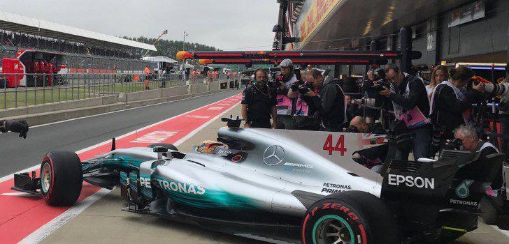Hamilton en Silverstone
