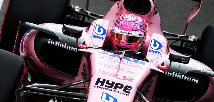 Esteban Ocon durante la clasificación del GP de Gran Bretaña