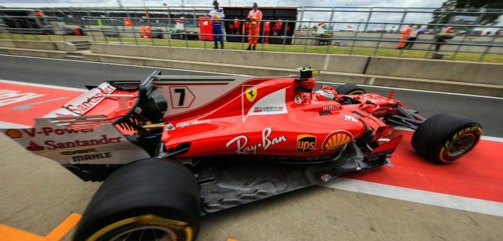 Kimi Räikkönen en Silverstone