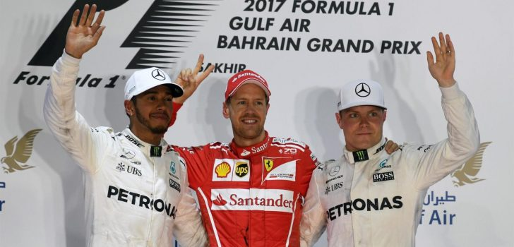 Vettel, Hamilton y Bottas