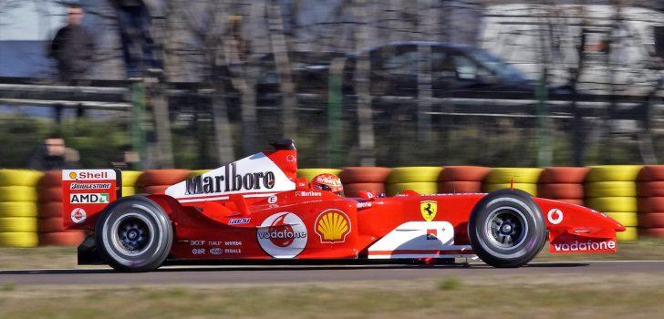 Michael Schumacher probando en Fiorano