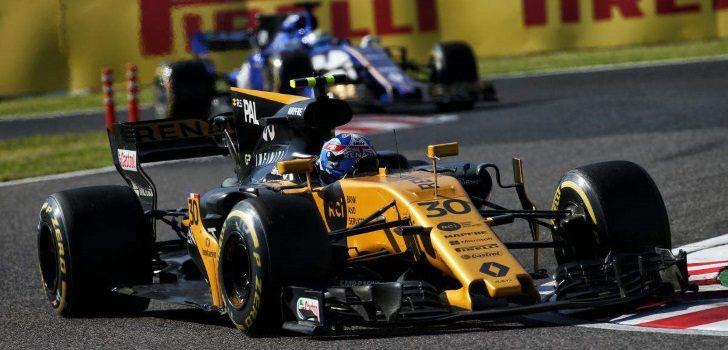 Jolyon Palmer en su última carrera en Japón con Renault