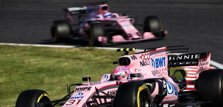 Esteban Ocon y Sergio Pérez GP Japón