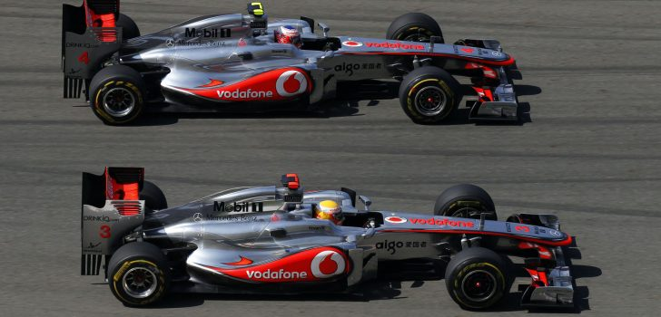 Jenson Button y Lewis Hamilton
