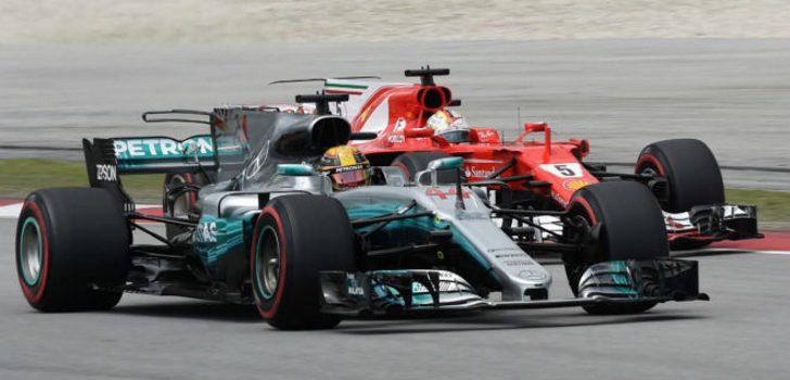 Hamilton y Vettel (Fuente: M. Thopson)