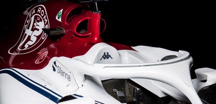Sauber vuelve al color blanco como base, incluso en su halo, Alfa Romeo aporta el rojo