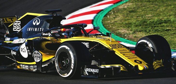 Carlos Sainz rueda en Montmeló