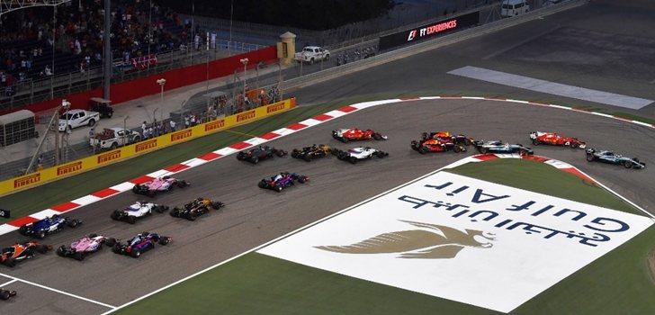 Los monoplazas de F1 en el GP de Bahréin 2017