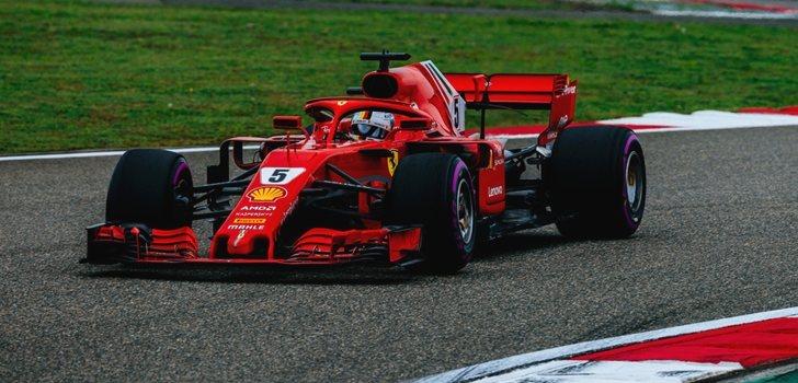 Vettel rueda en China