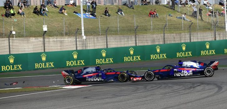 Accidente Toro Rosso GP China 2018