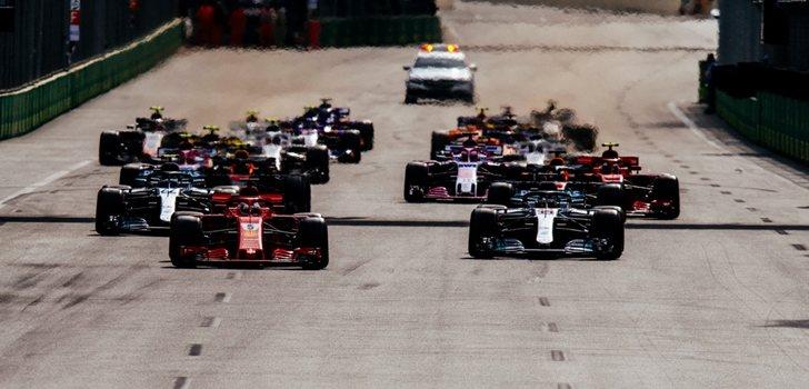Vettel, en la salida de Bakú 2018