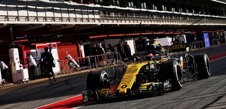 Sainz rueda en los test postcarrera de Barcelona