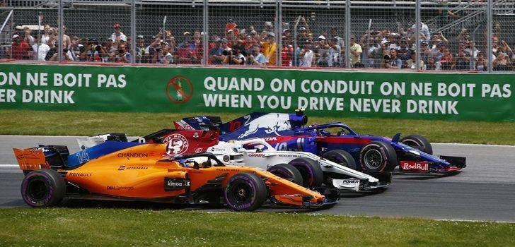Alonso pelea por posición en Canadá