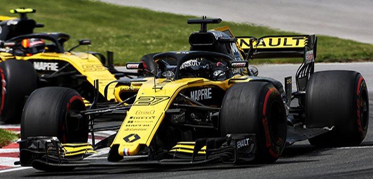 Sainz persigue a Hülkenberg durante el GP de Canadá