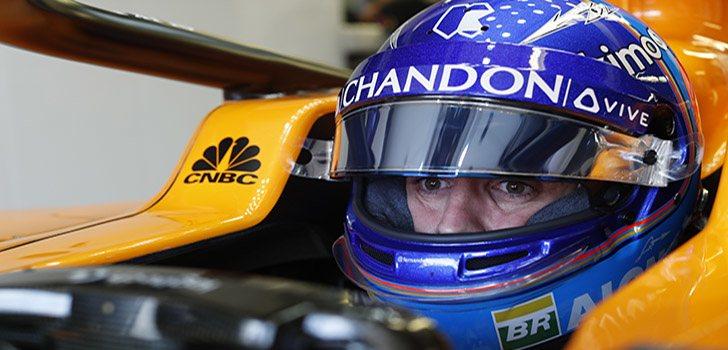 Alonso, antes de salir a pista en Canadá