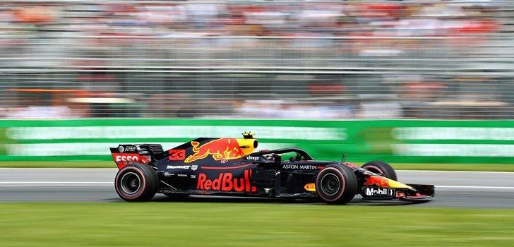 Verstappen rueda en Canadá 2018