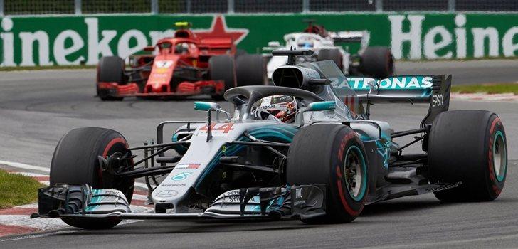 Hamilton, durante el GP de Canadá 2018