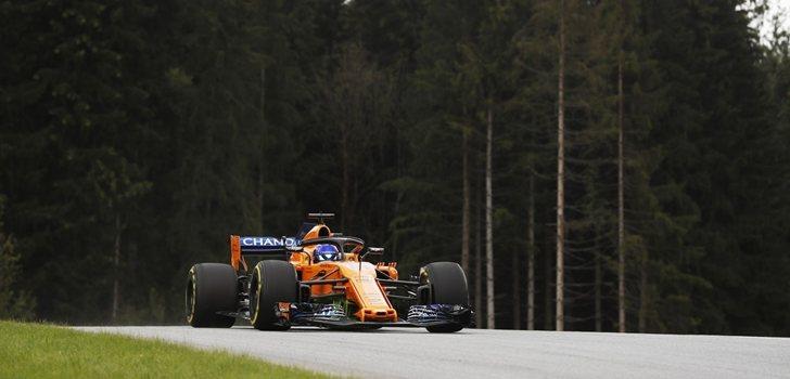 Alonso rueda en Spielberg