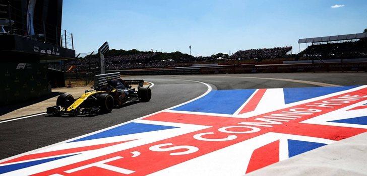 Sainz rueda en el GP de Gran Bretaña 2018