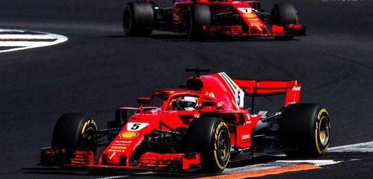 Vettel rueda en Silverstone