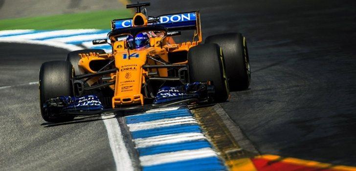 Alonso rueda en Alemania