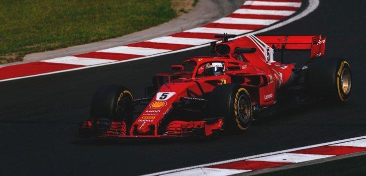 Vettel rueda en Hungría 2018