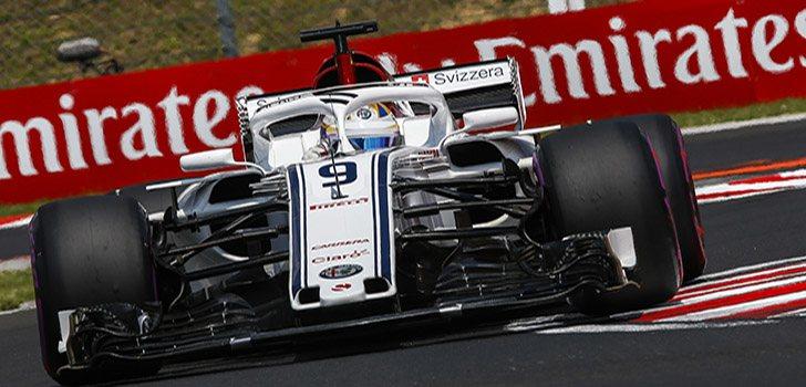 Ericsson, durante el GP de Hungría