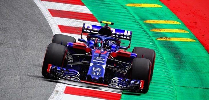 Gasly rueda en Toro Rosso