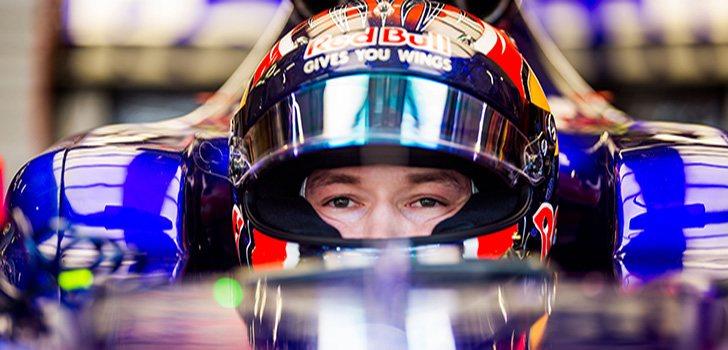 Kvyat, durante su última temporada en Toro Rosso