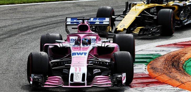 Pérez y Sainz pelean por la posición en Monza