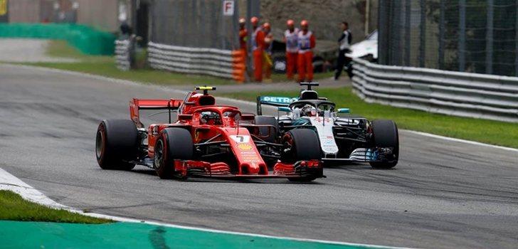 Hamilton y Räikkönen luchan por el triunfo en Monza