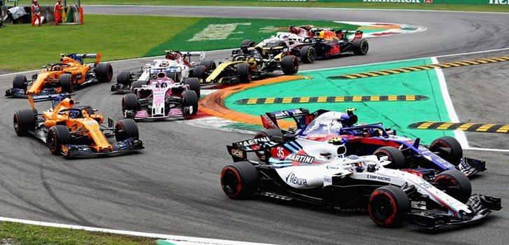 Gasly, en la salida de Monza 2018