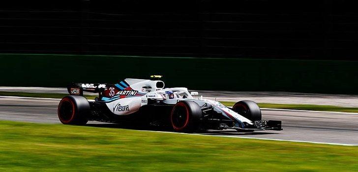 Sirotkin rueda en Monza