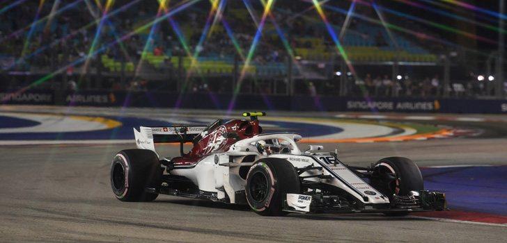 Charles Leclerc GP Singapur