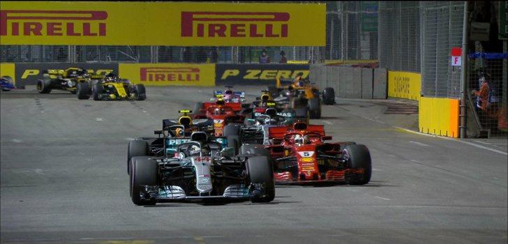 Salida carrera GP Singapur