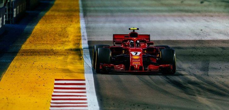 Räikkönen rueda en Singapur