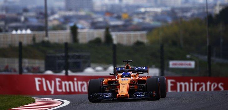 Alonso, en la clasificación de Suzuka
