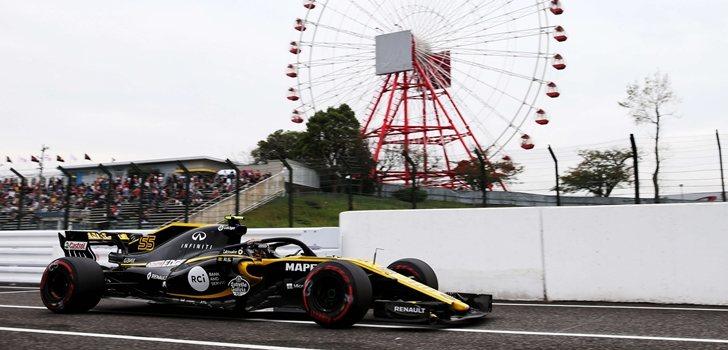 Sainz, durante la clasificación de Suzuka