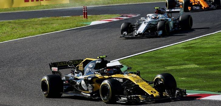 Sainz, durante el GP de Japón 2018