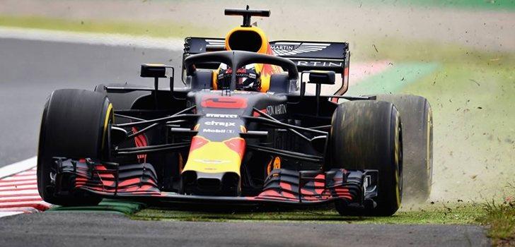 Ricciardo rueda en Suzuka