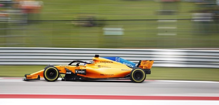 Alonso rueda en Austin