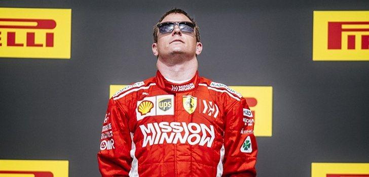 Räikkönen, en el podio de Austin